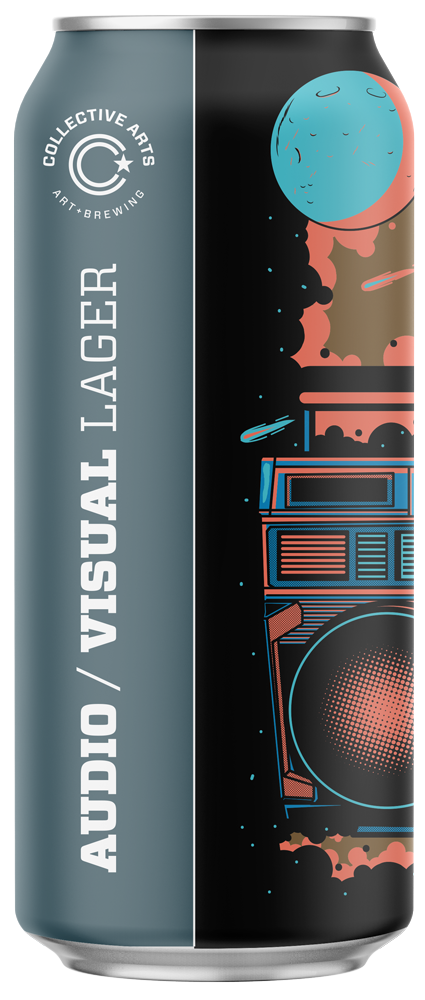 Audio/Visual Lager is super refreshing, making it the ideal beer for concerts, green rooms, backyards or wherever you tune in. Audio/Visual is brewed with pilsner malt and brown rice and cold aged for 4 weeks for the most refreshingly clean, and crisp finish possible. We use Wai-iti hops for fresh notes of lime and mandarin citrus to round out this easy drinking lager.